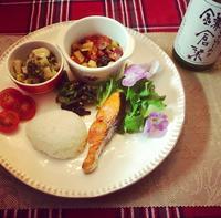 冬のワンプレートと日本酒 - カフェ気分なパン教室  ローズのマリ