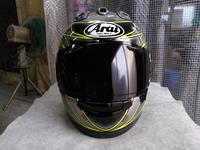 ラメラメキラキラのアライ謹製2輪用ヘルメットRX7Xの続き。完成しました。 - DRESS OUT  White Blog