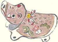 亥年の年賀状 - 気まぐれ絵手紙