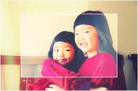 双子コーデ前髪ぱっつんおそろコーデ子供髪型かわいい - 美容室エスポワール