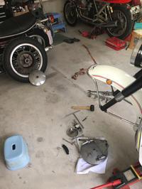 ドラムブレーキ調整 - ドカポルGS