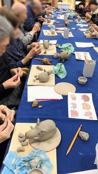 【教室リポート12月🐗イノシシ制作】 - 出張陶芸教室げんき工房