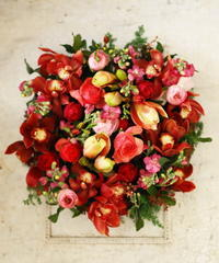 卒花嫁様からお母様へ、お誕生日のお祝いに熊本まで - 一会 ウエディングの花