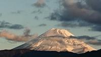 12月30日、我が家から見た富士山と意気消沈する友人 -   心満たされる生活