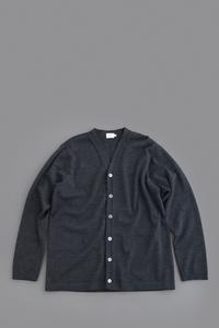 RINEN3/72 Wool Cardigan (Charcoal) - un.regard.moderne