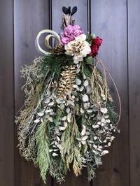 スワッグからのお正月飾り - 日々の雑記ノオト