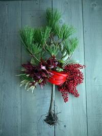根引松のお正月飾り。南1条にお届け。2018/12/27。 - 札幌 花屋 meLL flowers