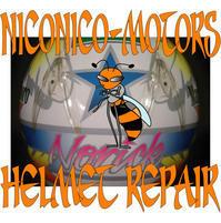 SHOEI X-8V NORICK 阿部典史 Helmet Repair ヘルメットリペア 廃盤 内装 交換 修理 ヘルメット修理店 ニコニコモータ - HELMET REPAIR ヘルメットリペア ニコニコモータース