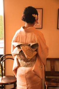 結納御祝い結婚式付け下げ訪問着着付け髪型ヘアスタイル最新帯結びさくら市美容室エスポワール - 美容室エスポワール