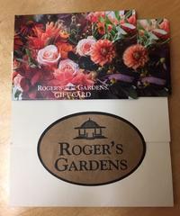 娘に貰ったRoger's Gardensのギフトカード - アバウトな情報科学博士のアメリカ