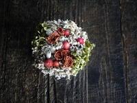 妹さんのお誕生日に、ドライフラワーのタルト型アレンジメント。2018/12/31。 - 札幌 花屋 meLL flowers