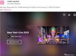 タイムズ・スクエアのカウントダウンとインターネット生中継 - ニューヨークの遊び方