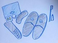 Day1 ターキッシュエアライン - たなかきょおこ-旅する絵描きの絵日記/Kyoko Tanaka Illustrated Diary
