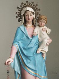 幼子イエスと青いローブの聖母マリア  / F272 - Glicinia 古道具店
