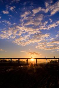 初日の出(八幡市・上津屋橋<流れ橋>) - 花景色-K.W.C. PhotoBlog