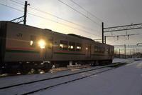 朝日は何処へ - 新幹線の写真