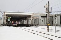 晴れのち雪 - 新幹線の写真