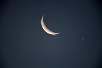 金星とお月さまの大接近 - 感動模写Ⅱ