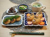 干支モチーフ☆イノシシいなり寿司♪ - 365のうちそとごはん*:..。o○☆゚