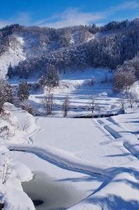 晴れの雪景色 - 松之山の四季2