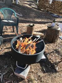 焚き火の宴 - 木洩れ日の森から
