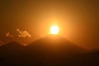 1月5日のダイヤモンド富士 - ヒグラシの日記  (あぁ、しあわせな日々)