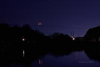 新月二日前の未明は妖し^^;@ 水上池 - 東大寺が大好き
