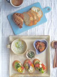 角皿ワンプレート朝ごはん - 陶器通販・益子焼 雑貨手作り陶器のサイトショップ 木のねのブログ