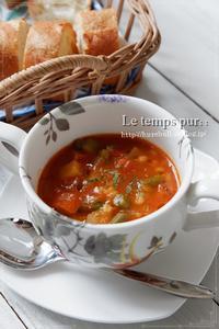 お正月太りにも嬉しい!:食物繊維たっぷり『もち麦のミネストローネ』 - Le temps pur  - ル・タン・ピュール  -