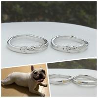 愛犬のフレンチブルドッグをモチーフにした結婚指輪オーダーメイド 岡山 - 工房Noritake