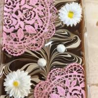 チョコレート石けんとチョコレート色のバラの葉っぱ。。♪ - 妖精と香りの庭