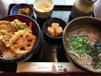 6日 野菜天丼と温かいそば@一福 - 香港と黒猫とイズタマアル2