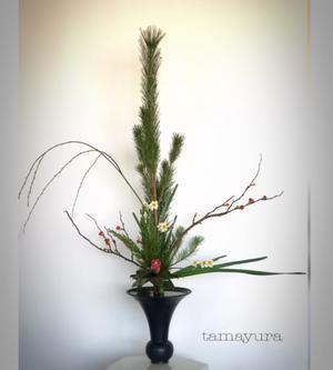 お正月のいけばな - tamayura*珠響