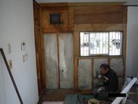 キッチン取替え~壁工事。 - 市原市リフォーム店の社長日記・・・日日是好日