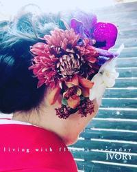 足元は……。 -  Flower and cafe 花空間 ivory (アイボリー)