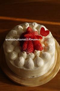 続、、苺ケーキ♪ - わたしのくらし