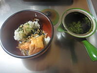 鮭茶漬けと揚げ物 - Mon atelier