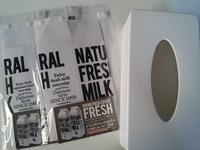 【白黒】冷蔵庫をオシャレに見せる?モノトーンなカバー - ほぼ100均で片付け収納に挑戦