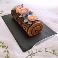 フラワーケーキクラスレッスン「オペラ風フラワーロールケーキ」 - Sweets Studio Floretta* Flower Cake & Sweets Class@SHIGA
