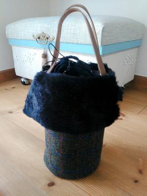 筒型の巾着バッグ - ATELIER HANA ~お裁縫&カルトナージュ教室~
