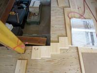 たったったの床板の割付など - 安曇野建築日誌