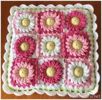 ガーベラの角座☆ピンク - Flower*Crochet