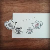 Tea for one...♪ティーポット&カップのはんこ彫りました♪ - kedi*kedi