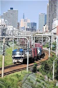 藤田八束の鉄道写真@貨物列車の写真です・・・コンテナ部分に工夫が有れば芸術品になる可能性大 - 藤田八束の日記