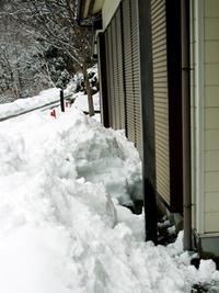 雪囲い、二人普請・・・朝焼けと-5℃でツルツル・テカテカ! - 朽木小川より 「itiのデジカメ日記」 高島市の奥山・針畑からフォトエッセイ