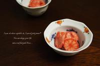 片平あかねの甘酢漬けとイイネボタン。 - La cuillère d' Eve ~ おうちおやつや菜穀ごはん