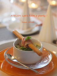 切り株達のクリーミーグラタン~「クリスマスのテーブルコーディネート&おもてなし料理レッスン」より - ATELIER Let's have a party ! (アトリエレッツハブアパーティー)         テーブルコーディネート&おもてなし料理教室