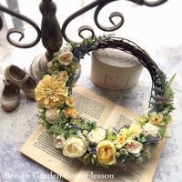デザインクラスのナチュラルリース(本日これから2時間ほど留守にします) - 花雑貨店 Breath Garden *kiko's  diary*