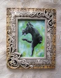 黒猫油絵№3 - 油絵画家、永月水人のArt Life