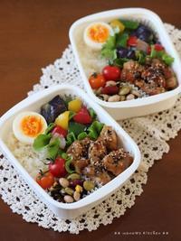 ごま照りチキン ✿ タタキまぐろのネバネバ丼(๑¯﹃¯๑)♪ - **  mana's Kitchen **